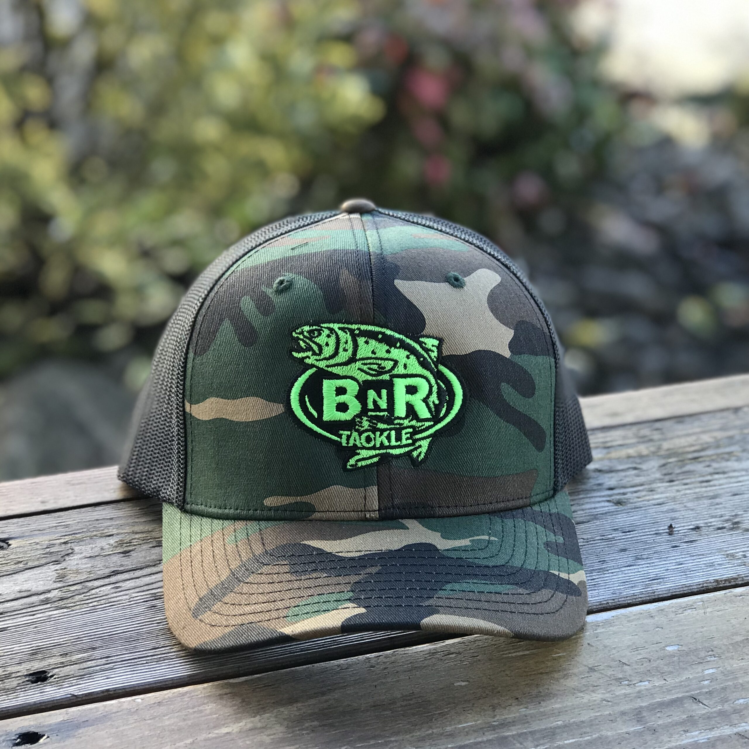 BnR Tackle Hat – Camo Neon Green