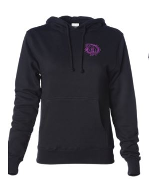 Ladies BnR Tackle Hoodie – Black/Purple