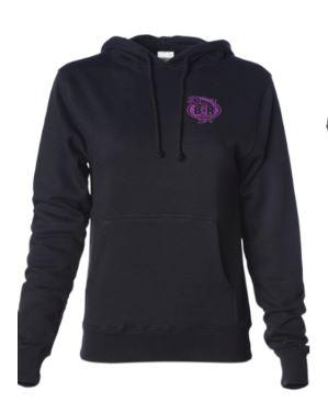 Ladies BnR Tackle Hoodie – Black/Purple