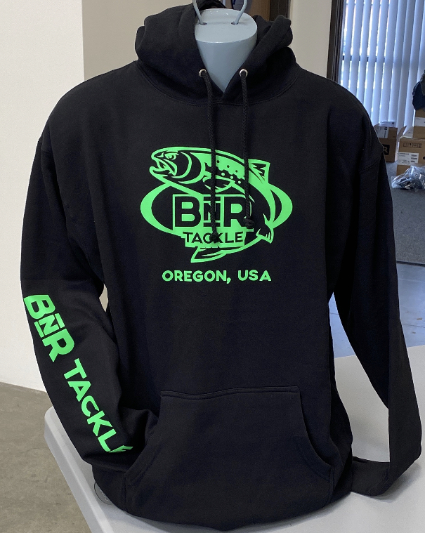 BnR Tackle Hoodie – Black/Neon Green