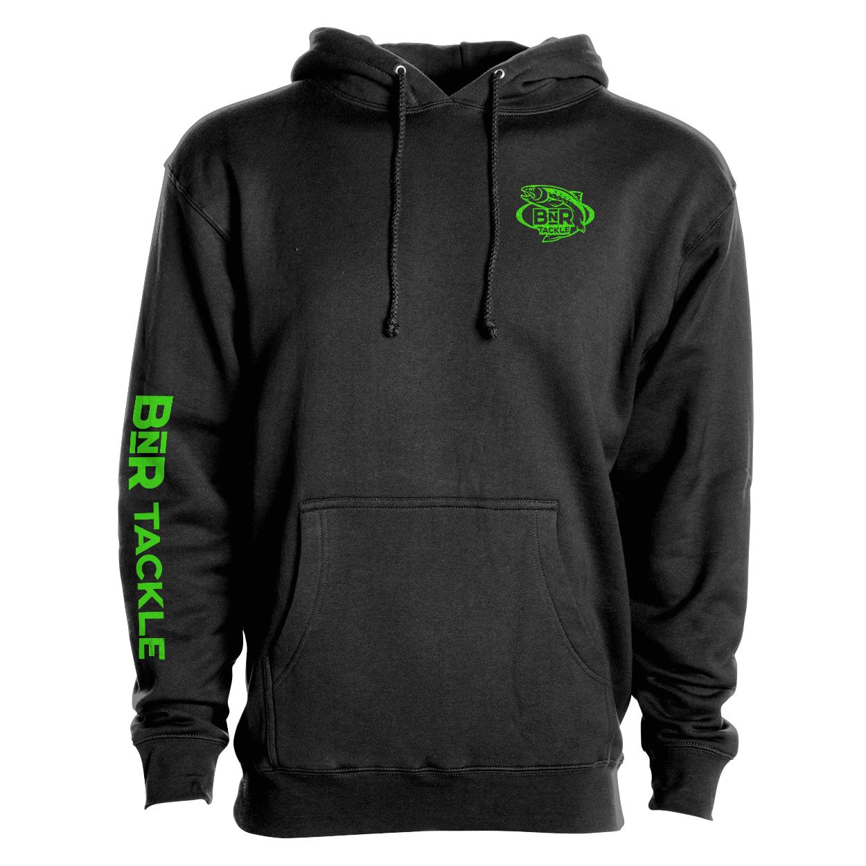 BnR Tackle Hoodie – Black/Neon Green