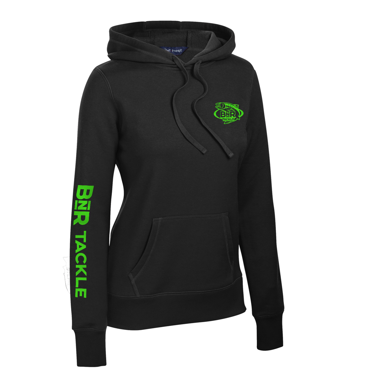 Ladies BnR Tackle Hoodie – Black/Neon Green