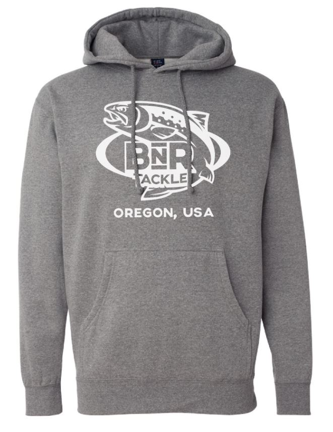 BnR Tackle Hoodie – Gray With White Logo