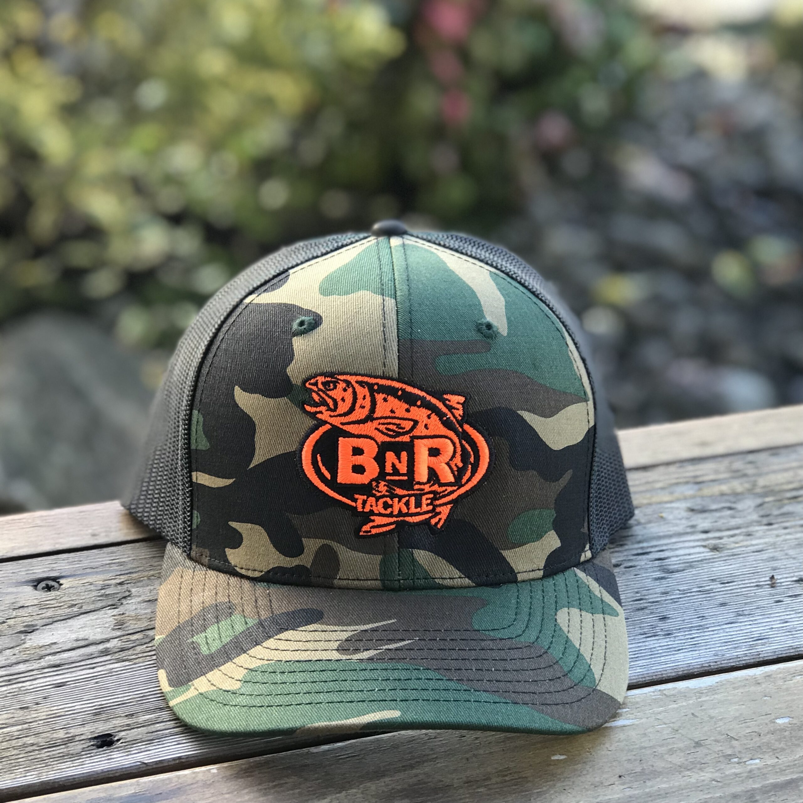 BnR Tackle Hat – Camo Neon Orange