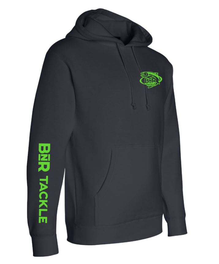 BnR Tackle Navy Hoodie – Navy With Neon Green Logo