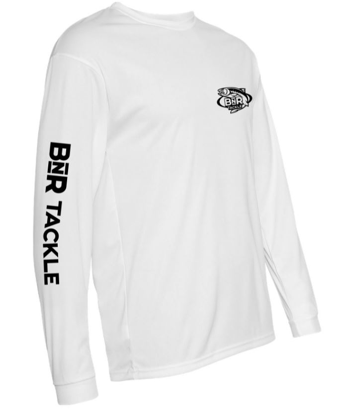 BnR Tackle Long Sleeve Tee – White